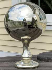 ANTIQUE MERCURY GLASS BUTLER'S BALL