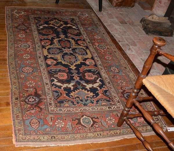 "Antique Oriental rug, 3'7"" x 6'5"""