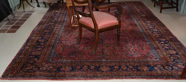 """Antique Oriental rug, Sarouk, 8'6"""" x 11'6"""""""