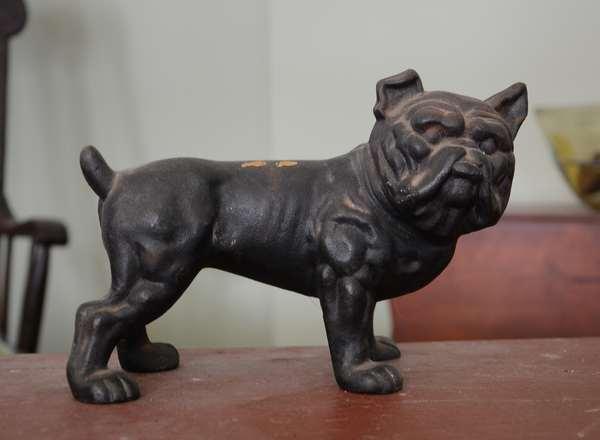 Bulldog iron doorstop (63-4)
