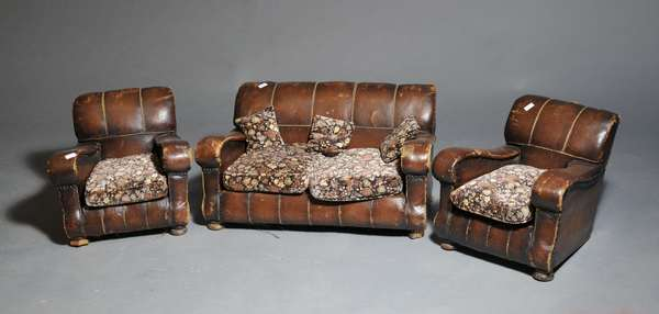 Childs leather Deco set - (sofa 9.25