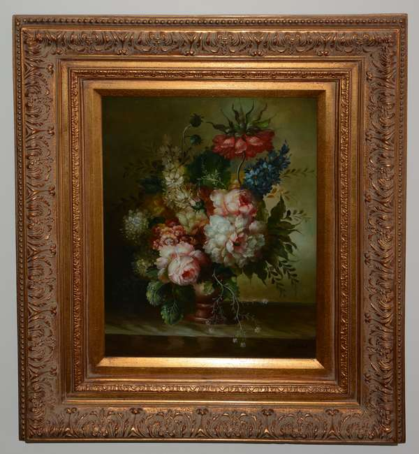 Pair of contemporary still life paintings, W. Melvin (25-15)