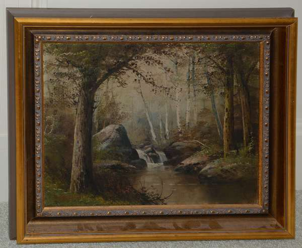 Landscape painting with stream, C.T. Mitchell (25-20)