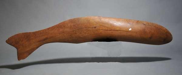 Driftwood whale figure, 45