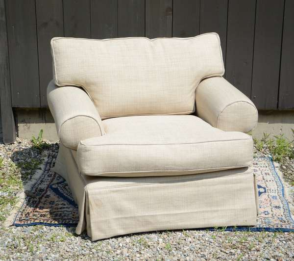 Overstuffed club chair, Mitchell Gold (111-11)