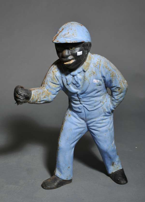 Cast iron lawn jockey - 24