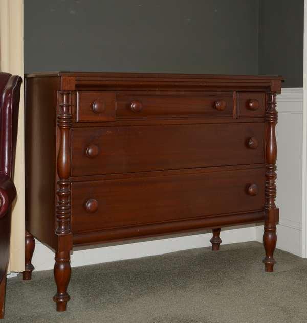 20th C. mahogany chest (25-51)