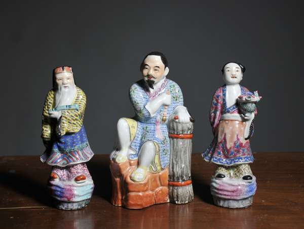 Three Asian porcelain figures - 6.25
