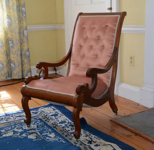 19th C. Classical arm chair, mahogany (24)