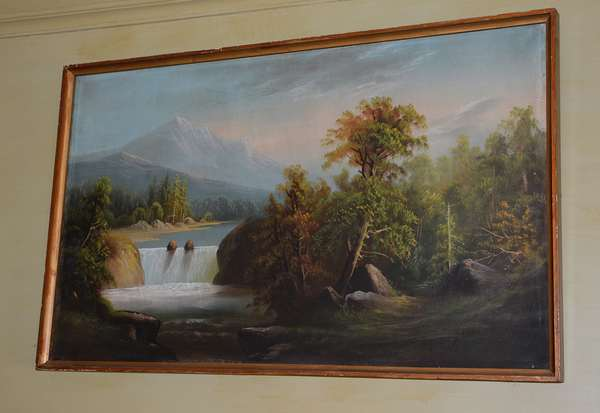 One of several antique landscape oil paintings (34)