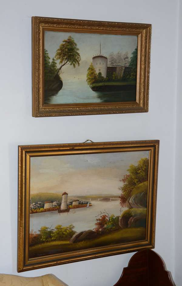 Several 19th C. oil paintings of landscapes (37)