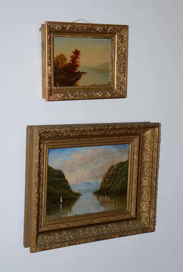 Several 19th C. oil paintings of landscapes (38)