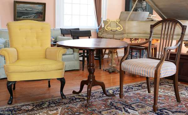 The Parlor, well-appointed with furnishings and accessories, all sold to the highest bidder! (49)