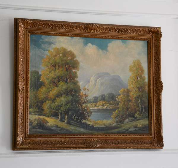 Landscape oil painting by Thomas Patton, well framed (60)