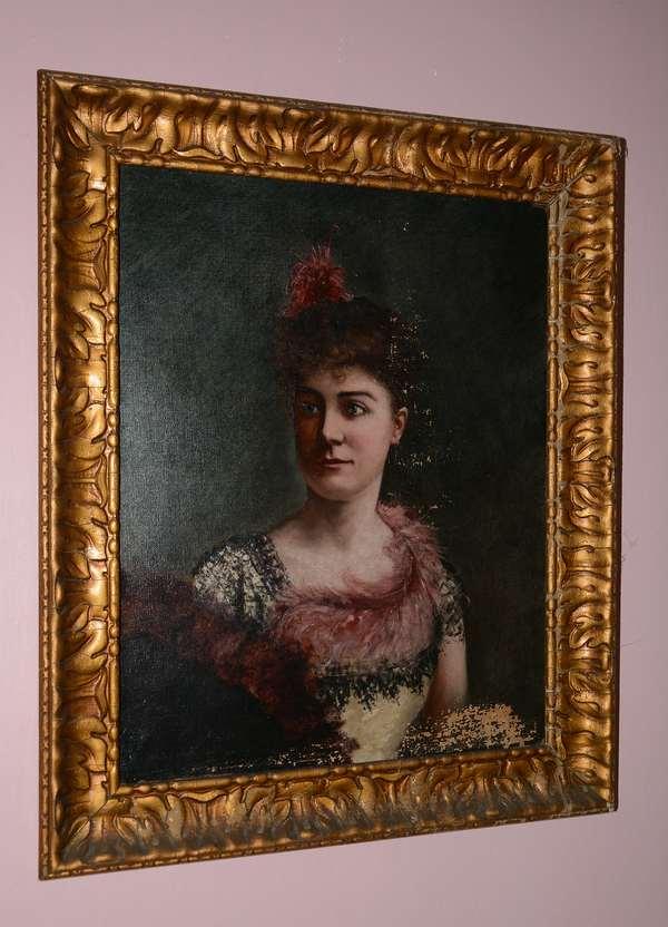 Oil, portrait of woman (75)