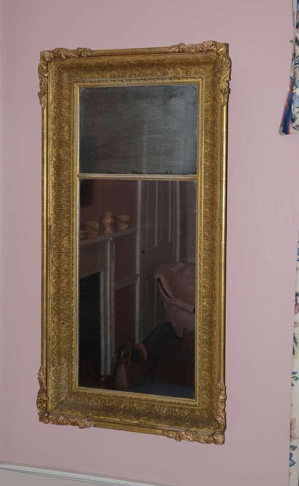 19th C. gilt mirror (76)