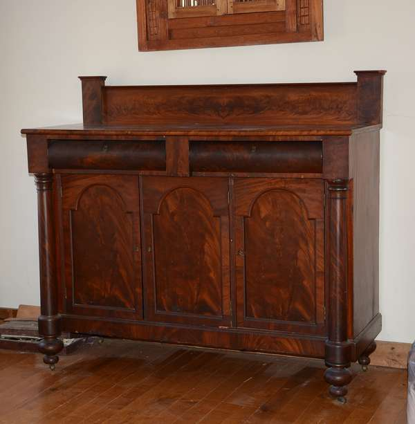 19th C. mahogany sideboard/server (101)