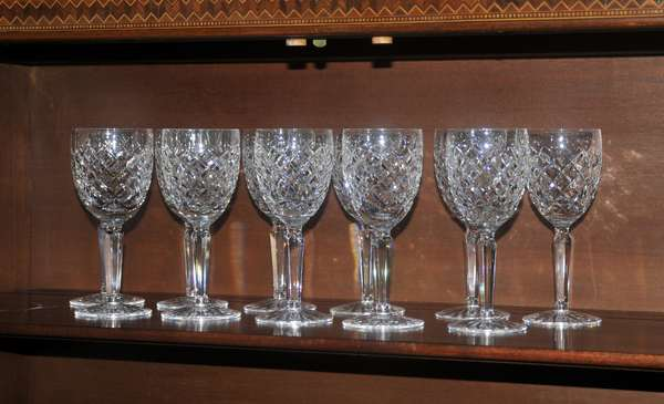 Set of 11 Waterford clarets - wines (red) (208-114)