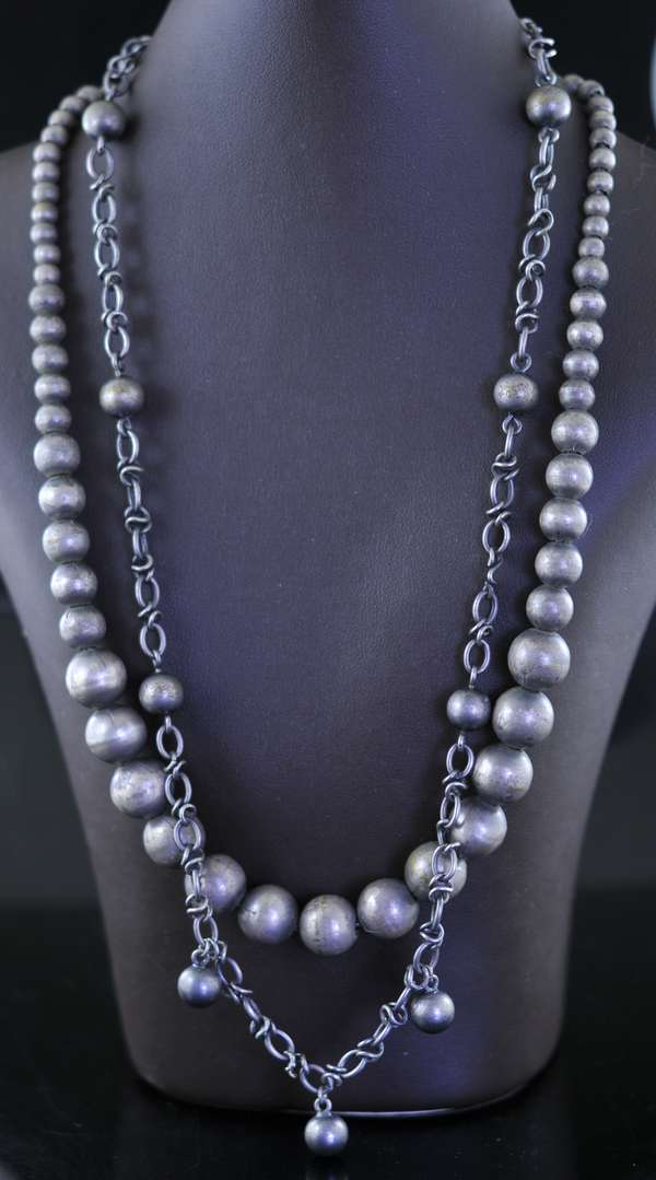 Two pewter necklaces (7-254)