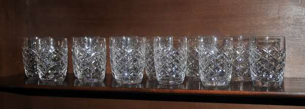 12 Waterford water tumblers (208-117)