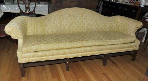 Camel back sofa (475-7)
