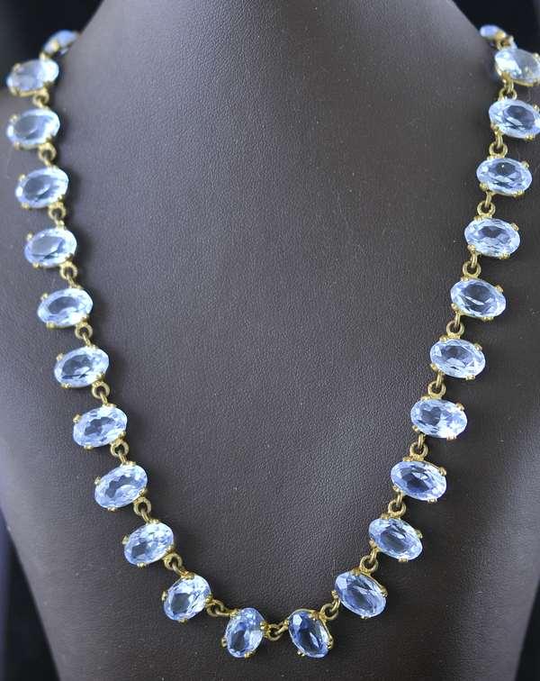 Blue stone necklace (7-262)