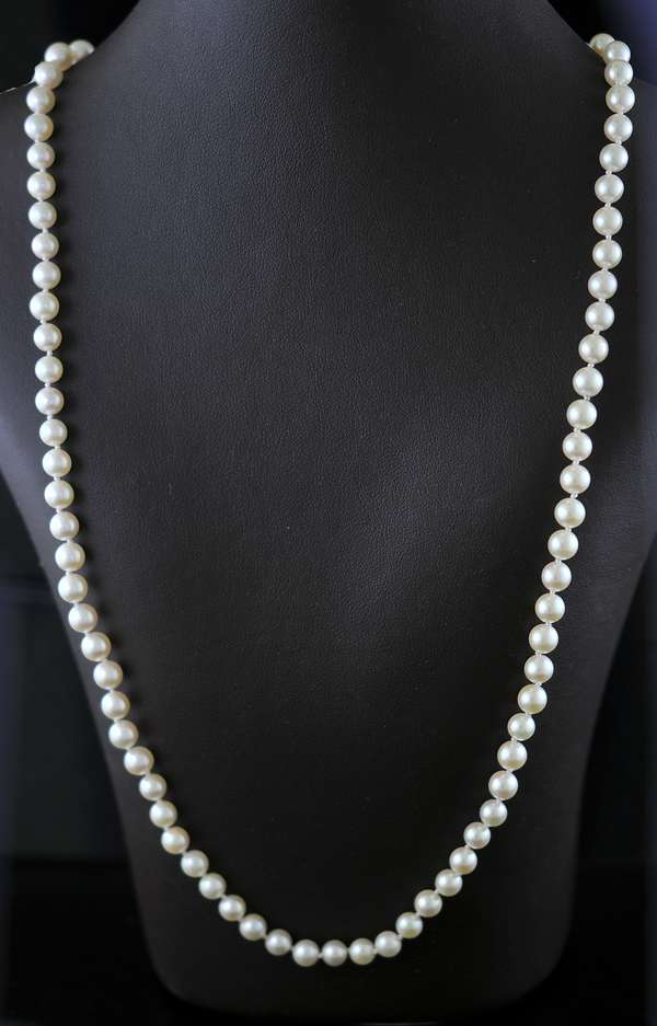 5-5.5mm white cultured pearls (102-1)