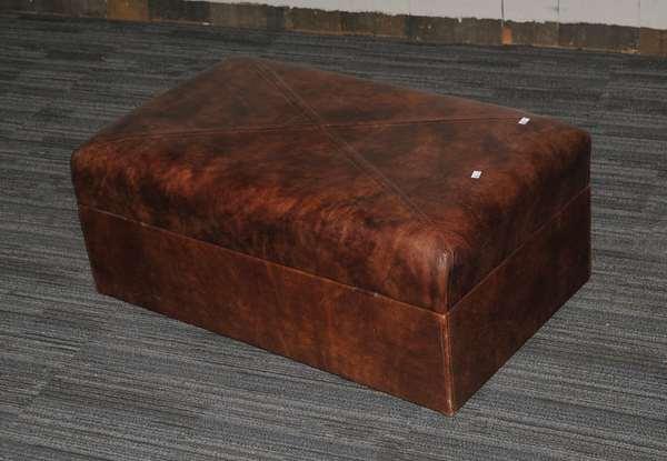 Leather ottoman (210)