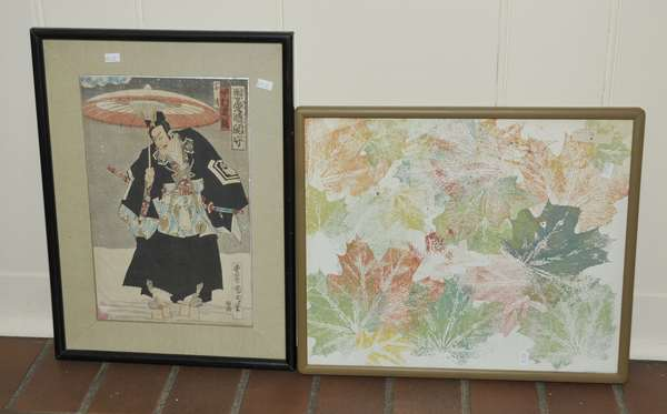Japanese wood block and other print (475-22)