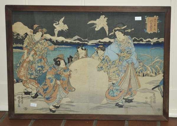 Japanese wood block Hiroshige (475-23)