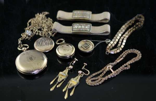 Misc. gold filled lot (8 pcs inc. pr of earrings)(136-68)