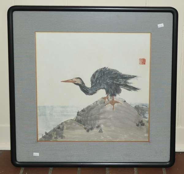 Japanese print of bird (475-25)