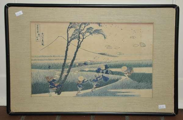 Japanese wood block print (475-27)