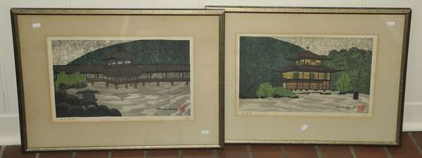 Two Japanese wood block by Okamoto (475-28)