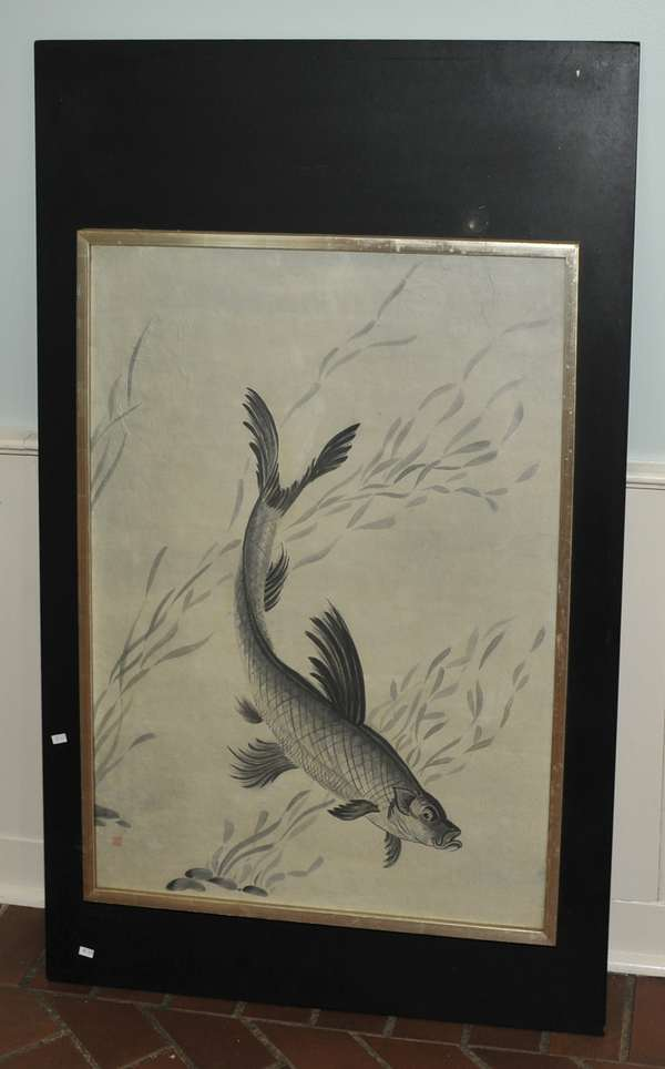 Japanese print of carp (475-29)
