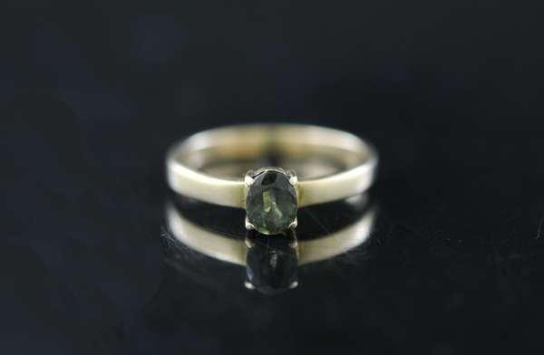 .50ct green tourmaline ring (170-4)