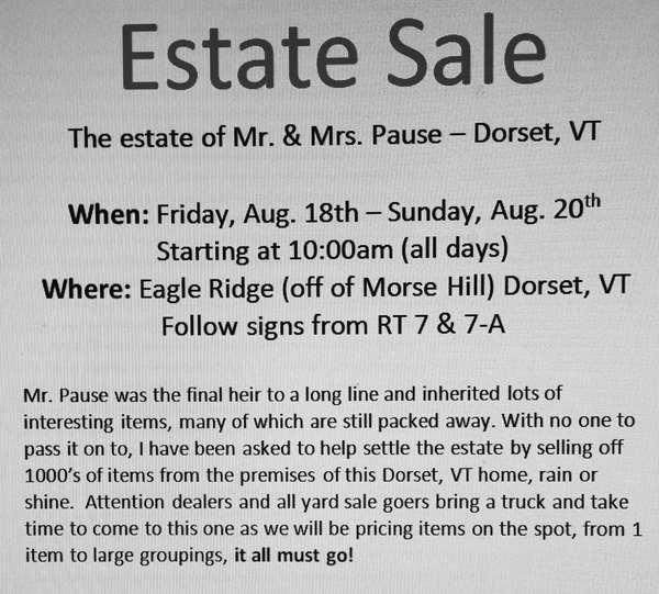 Leon Conducts a massive estate tag sale