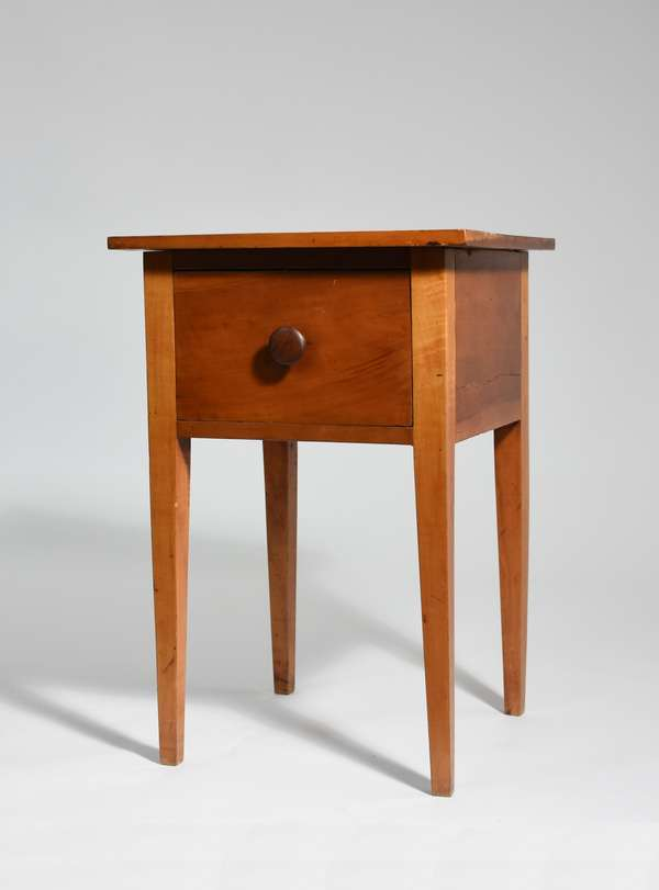 19th C. cherry Shaker (Midwest) one drawer stand