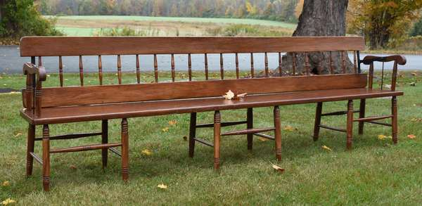 Great 9' railroad bench with