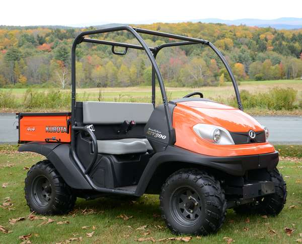 2010 Kubota RTV500 diesel 4x4 utility vehicle with very low hours (32 hrs) in like new condition purchased at Townline Equipment with paperwork, known as
