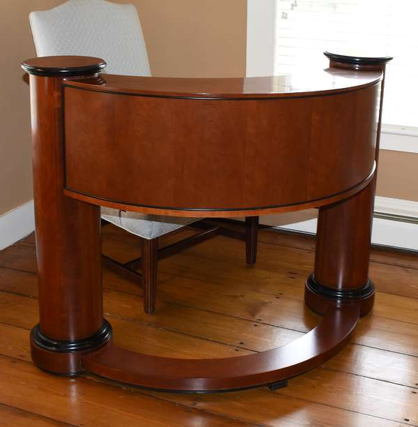 Deco style Century Furniture Co. upright writing desk, 49.5