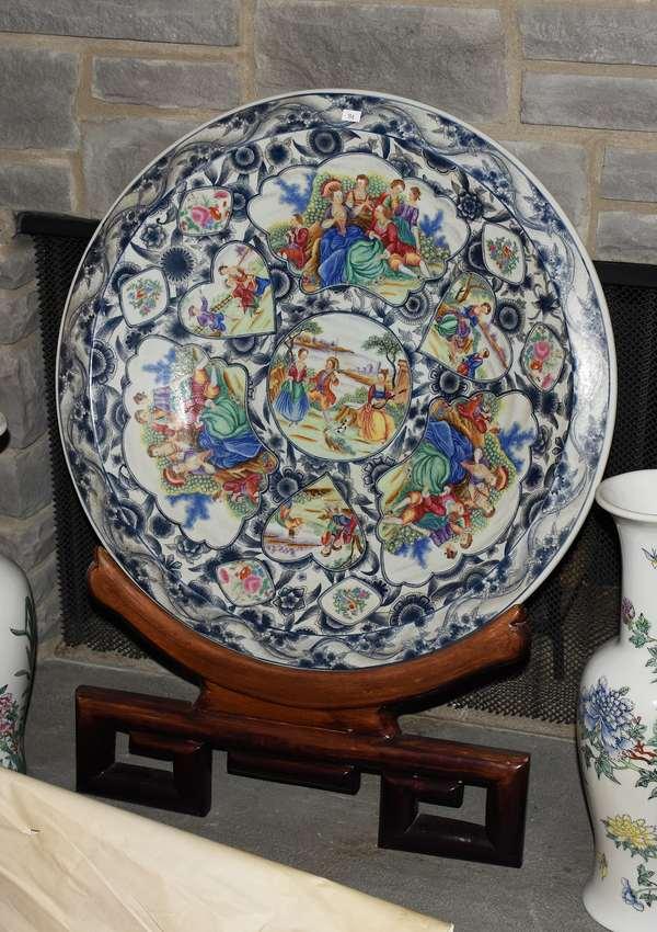 Large porcelain charger (196)