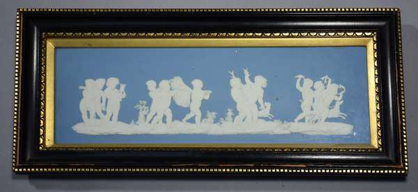 Large Wedgwood 19th C. jasperware wall plaque,