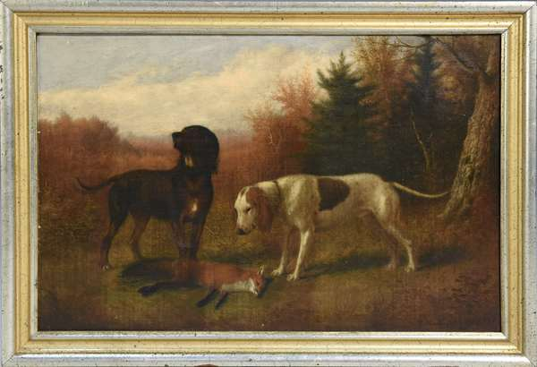 Thomas H. Hinckley (Am. 1813-1896) oil on canvas, 14