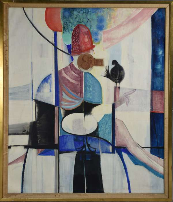 Sven Lukin (Latvia-Am. 1934-) oil on canvas