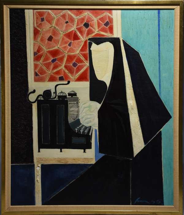 Sven Lukin (Latvia/Am. 1934-) oil on canvas