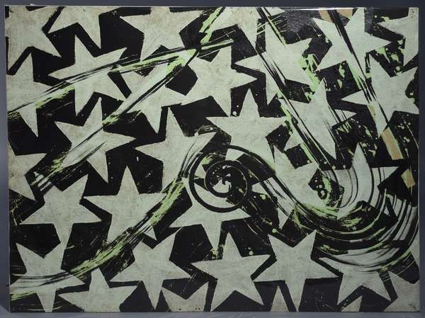 Sven Lukin (Latvia/Am. 1934-) acrylic on tar paper,