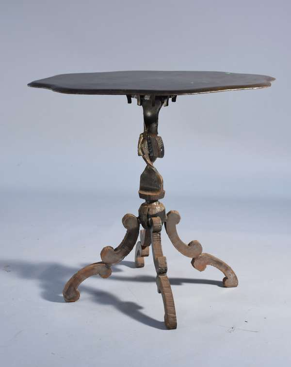 Evan Lewis (Am.) cut and welded Modernist table, 32