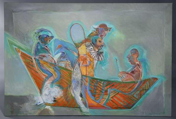 Craig Rubadoux (Am. 1937-) oil on canvas