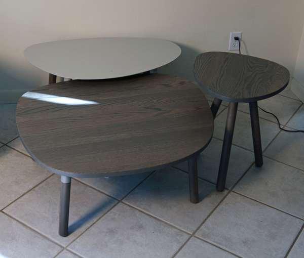 Three Mid-Century shaped coffee tables